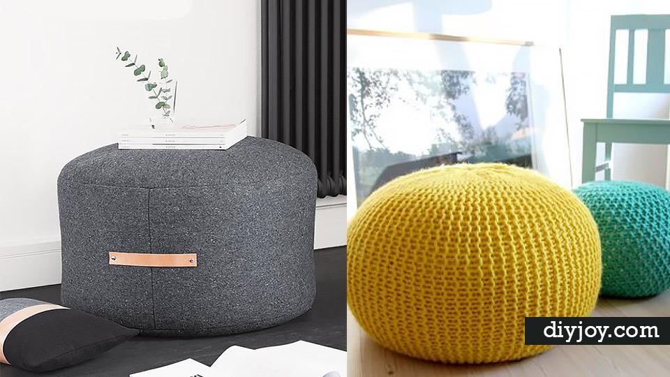 living room pouf design ideas blue couch 32 fabulous diy poufs your needs right now