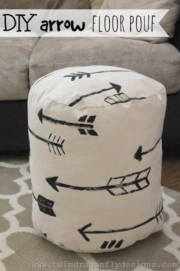 ikea chair with ottoman dining room chairs 32 fabulous diy poufs your living needs right now!