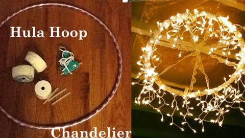 Magical And Diy Hula Hoop Chandelier Joy Projects Crafts Ideas