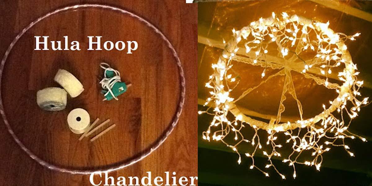 Magical And Romantic DIY Hula Hoop Chandelier
