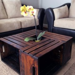 Diy Living Room Table Decor Four Chairs In 38 Brilliant Ideas Crate Coffee Cool Modern Rustic And