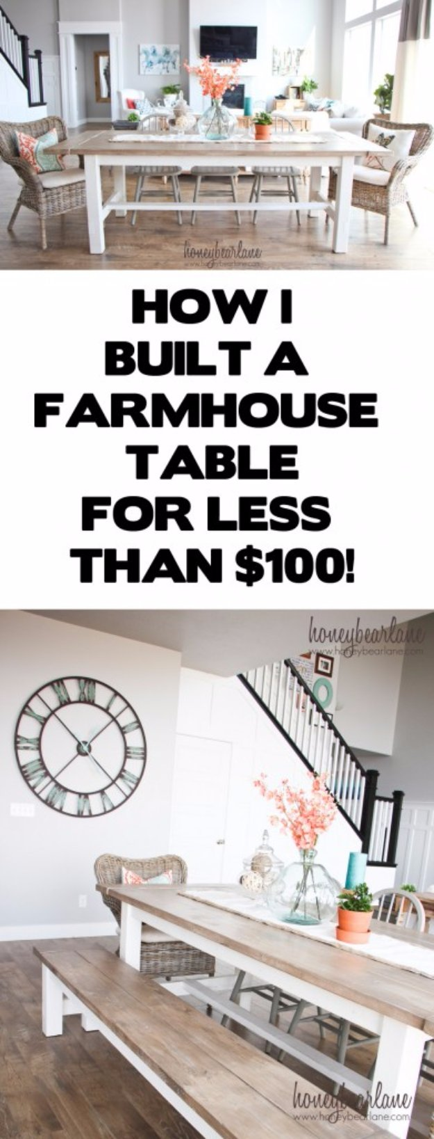 diy living room table decor traditional pictures 36 dining ideas farmhouse and bench cool projects for