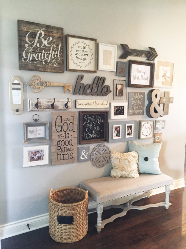 living room decorating ideas picture frames blue accent chairs for 41 incredible farmhouse decor diy style entryway gallery wall rustic furniture paint
