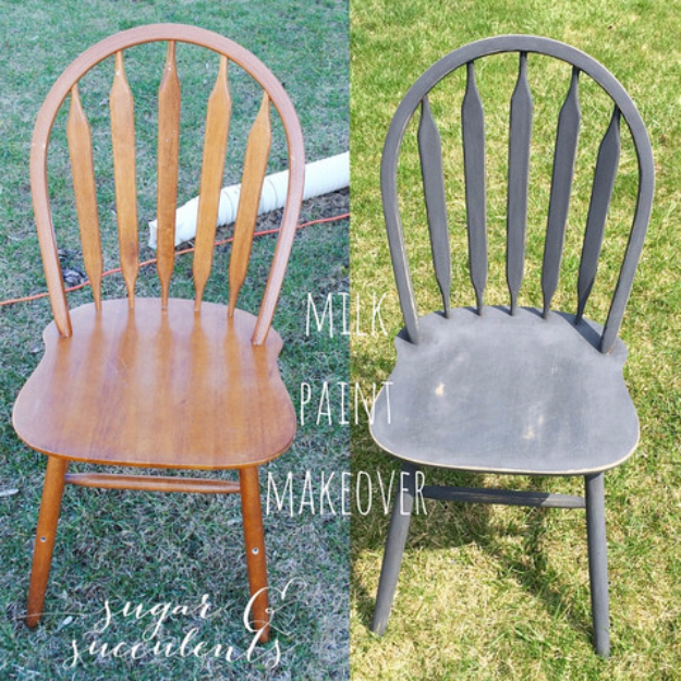diy painted windsor chairs rolling chair hardwood floor protector milk paint makeover joy addthis sharing buttons