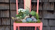Repurpose Vintage Chairs Charming Succulent Planters