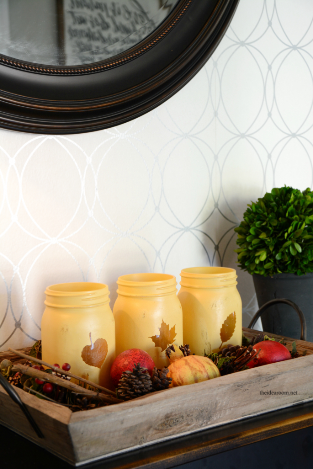 ideas decorating my living room couch sets 33 mason jar crafts for fall