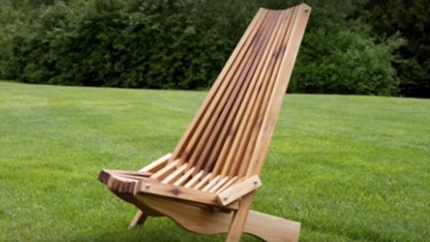folding lawn chair porch rocking he makes the coolest looking fold up cedar i've ever seen!