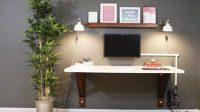 He Builds A Clever Wall Mounted Desk And Saves A Lot Of ...