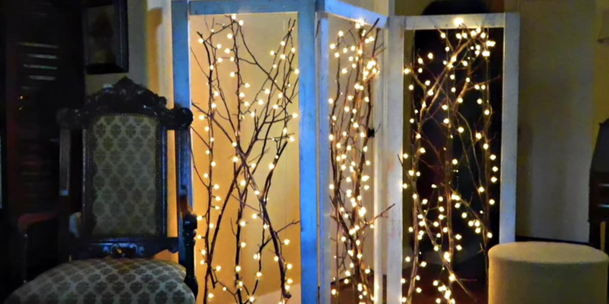 Watch How He Creates This Fabulous Twinkling Branches Room