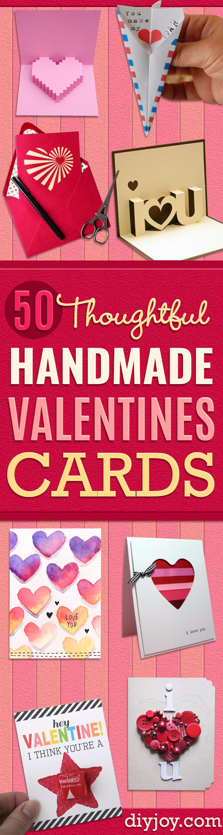 Diy Valentines Day Cards - Easy Handmade Cards For Him And Her, Kids,  Freinds