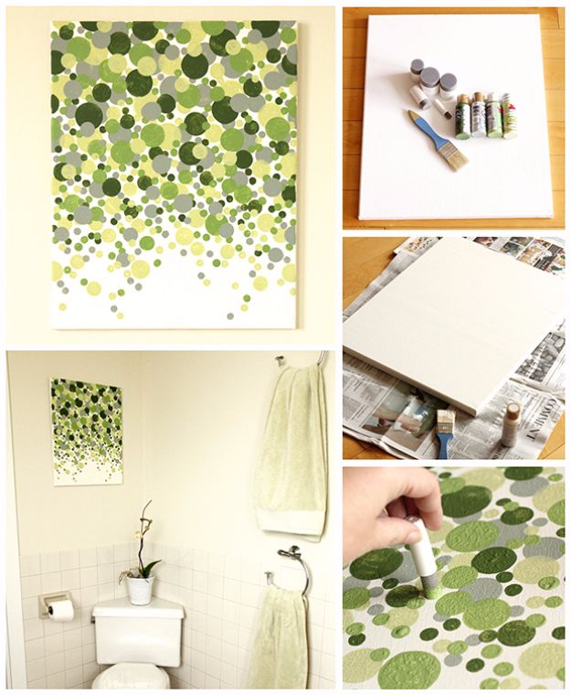 diy canvas art for living room small ideas with brick fireplace 36 painting anyone can make cool and easy wall