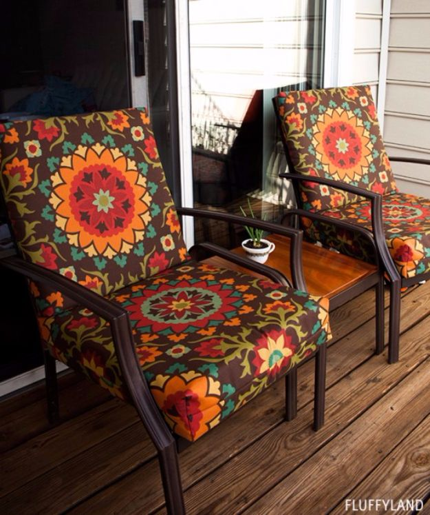 sewing patterns for chair cushions wood chairs outdoor 33 creative projects your patio the recovered step by instructions and