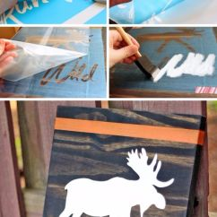 Diy Canvas Art For Living Room Dark Curtains 41 Super Cool Ideas Made With Stencils