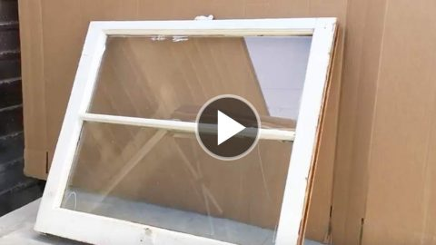 I Love DIY Ideas With Old Windows And Absolutely Have To Have This One For My Porch