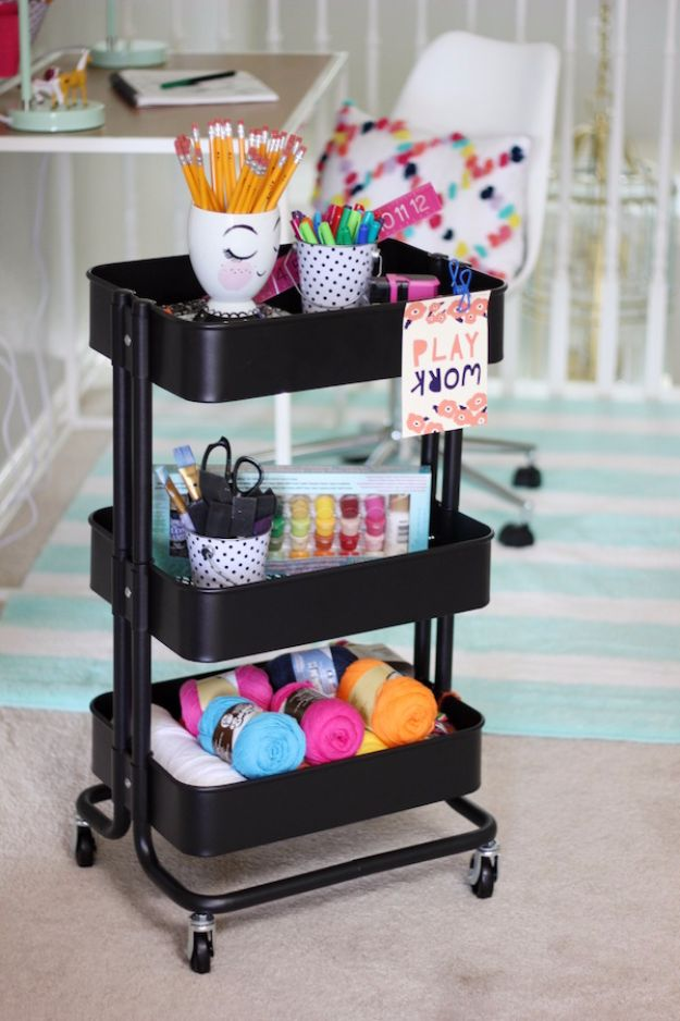 35 Cool Craft Room Storage Ideas