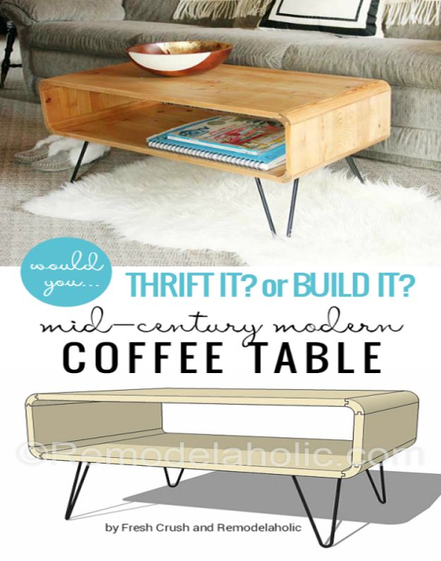 35 DIY Coffee Tables That Belong In Your Living Room