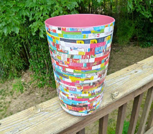 32 Impressive DIY Trash Cans
