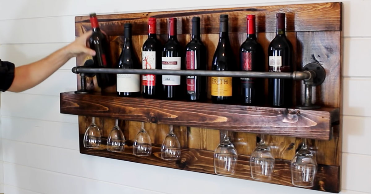 mini wine cellars on the wall