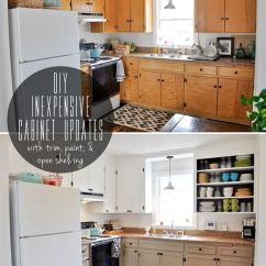 Diy Kitchen Cabinet Stainless Steel Packages 34 Ideas Cabinets Inexpensive Updates Makeover For Build