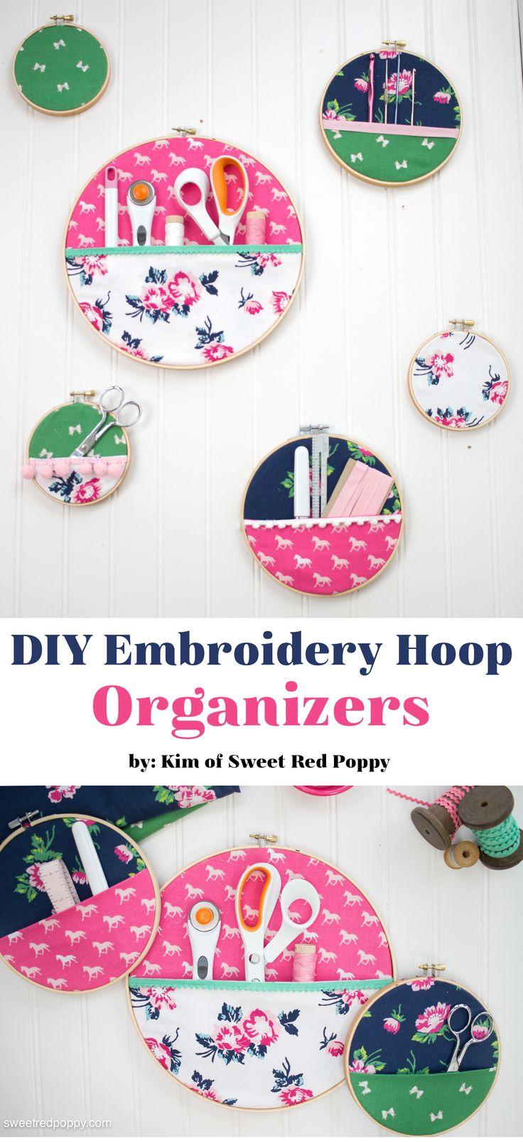 Best Diy Crafts Ideas Diy Embroidery Hoop Hanging Wall Organizer A Great Idea For Sewing Room Organi Diy Loop Leading Diy Craft Inspiration Magazine Database