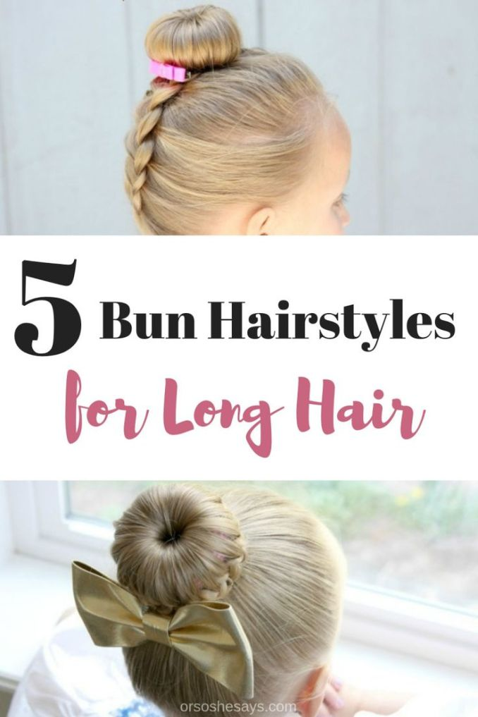 best diy crafts ideas : these cute bun hairstyles for girls
