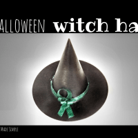 "Easy Halloween Decorations: Witch Hat and ""Boo"" Door Hanger"