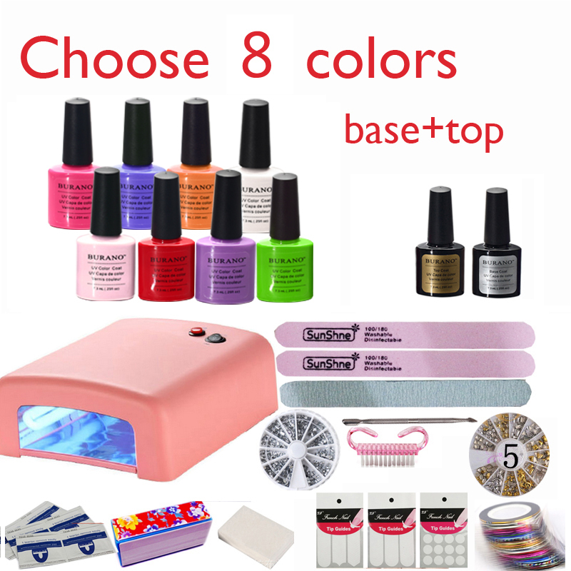 Burano Nail Kit Art Diy Full Set Led Soak Off Uv Gel Polish
