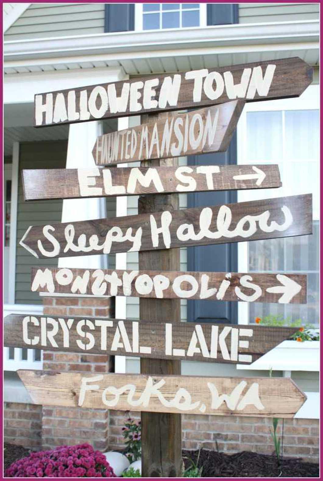 halloween street sign diy mama