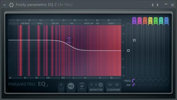 Fruity Parametric EQ - low shelf