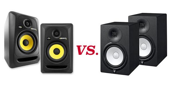 yamaha hs vs krk rokit studio monitors diy music. Black Bedroom Furniture Sets. Home Design Ideas