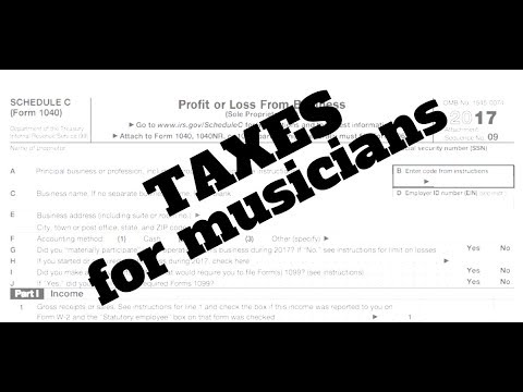 Taxes for USA-based musicians: how to file, when to claim