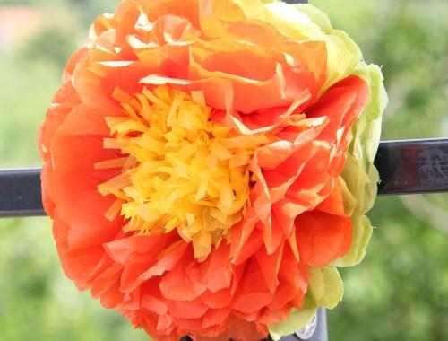 Návod na kvet z hodvábneho papiera
