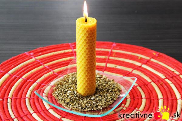 Návod na sviečku z včelieho vosku