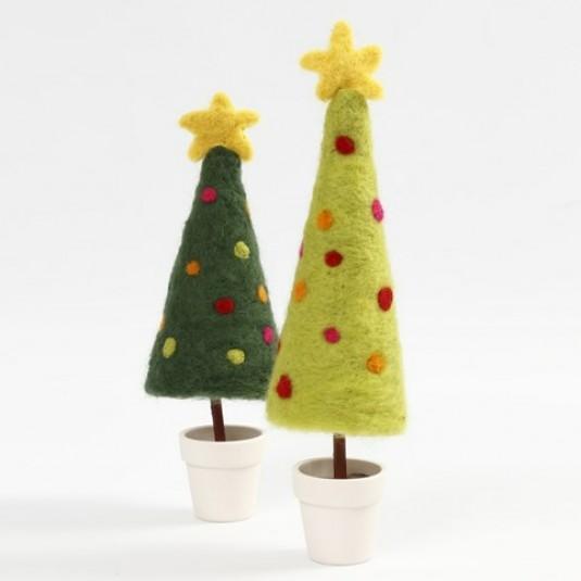 Návod na plstený vianočný stromček