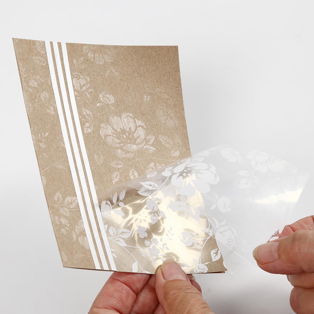 Návod na pohľadnicu použitím fólie.