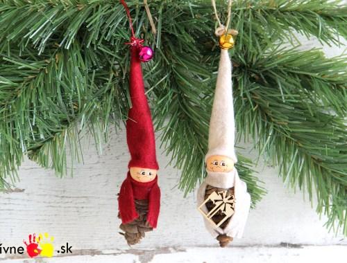 Návod na vianočnú ozdobu zo šišky