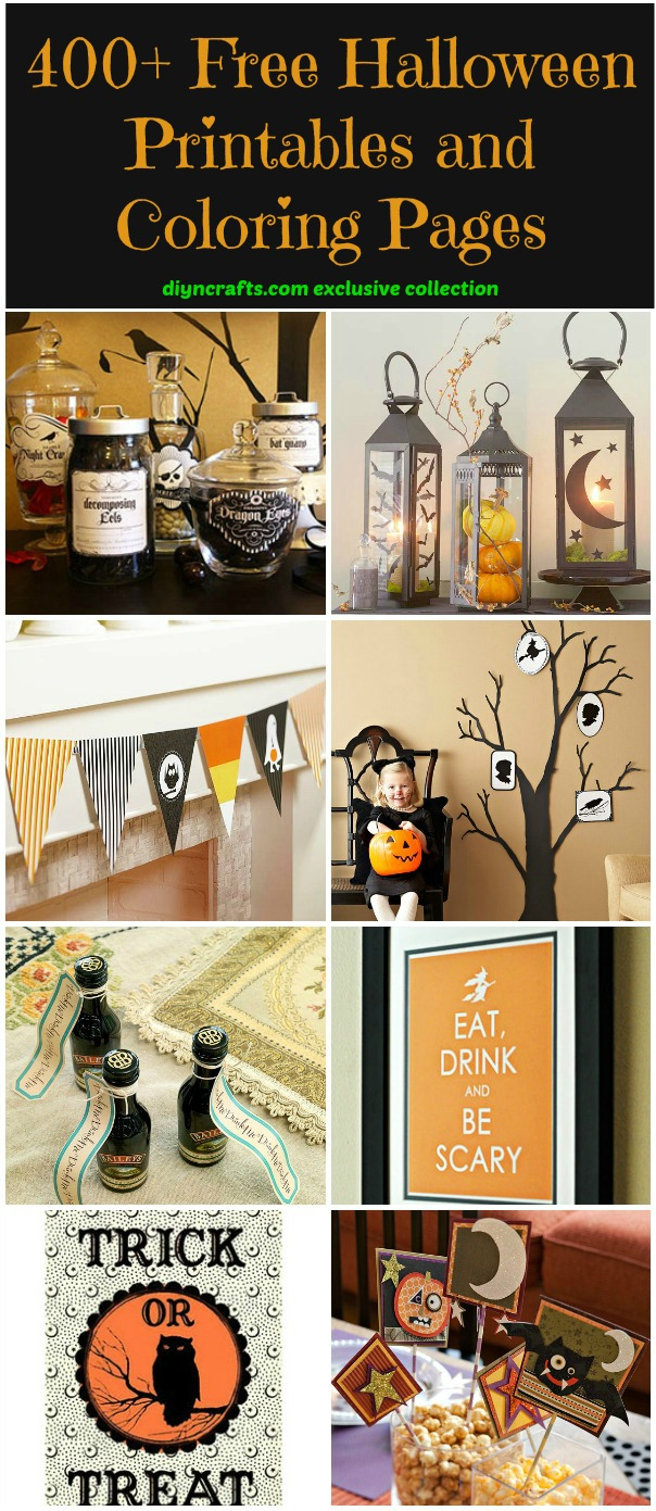 400+ Free Halloween Printables And Coloring Pages  Diy & Crafts