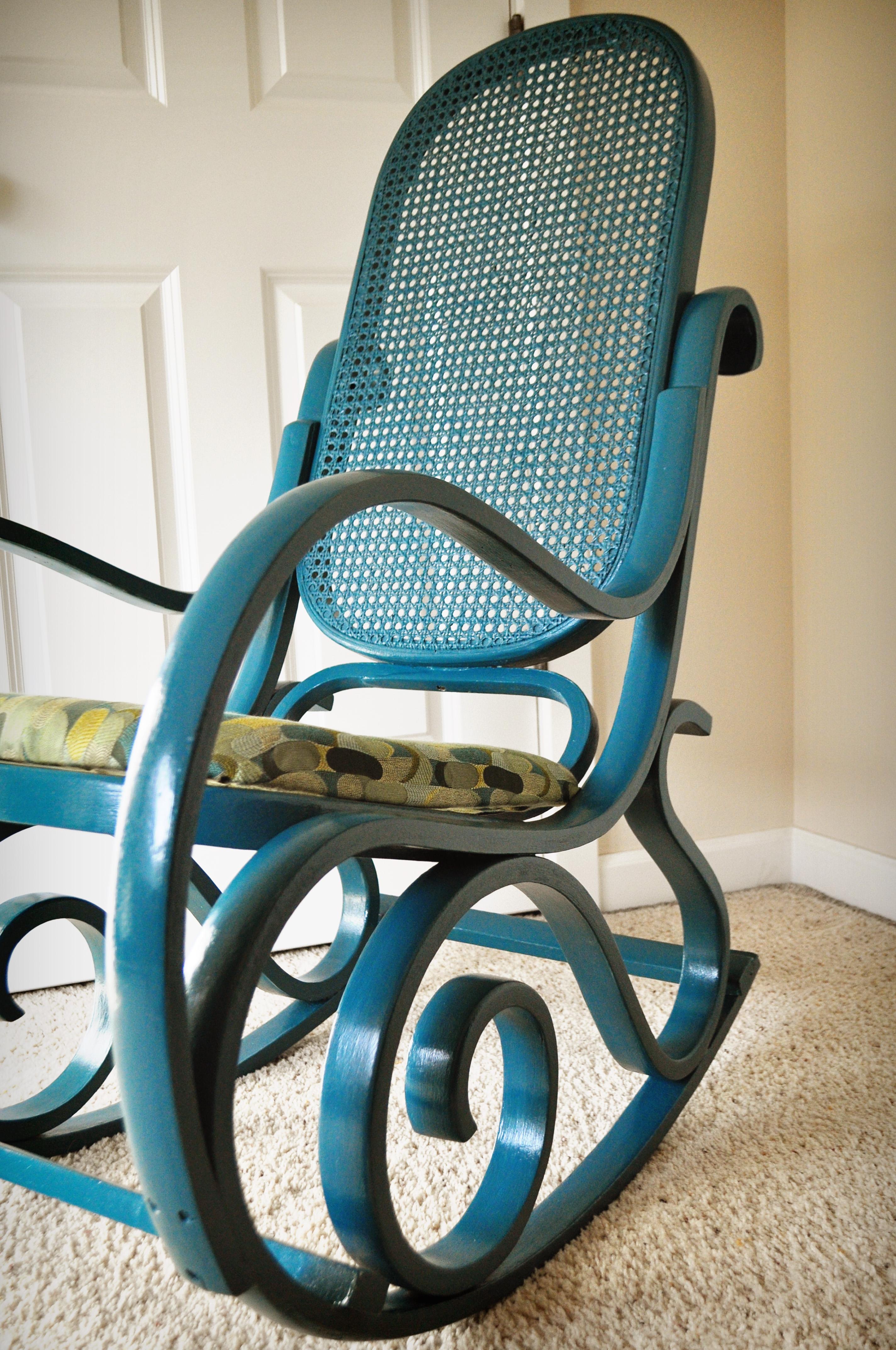 wicker rocking chair rocker recliner for nursery completedwood and rattan diy newbies