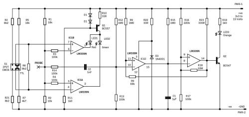 small resolution of design and make the ubiquitous logic probe diyode magazine logic probe circuit diagram for tri state logics