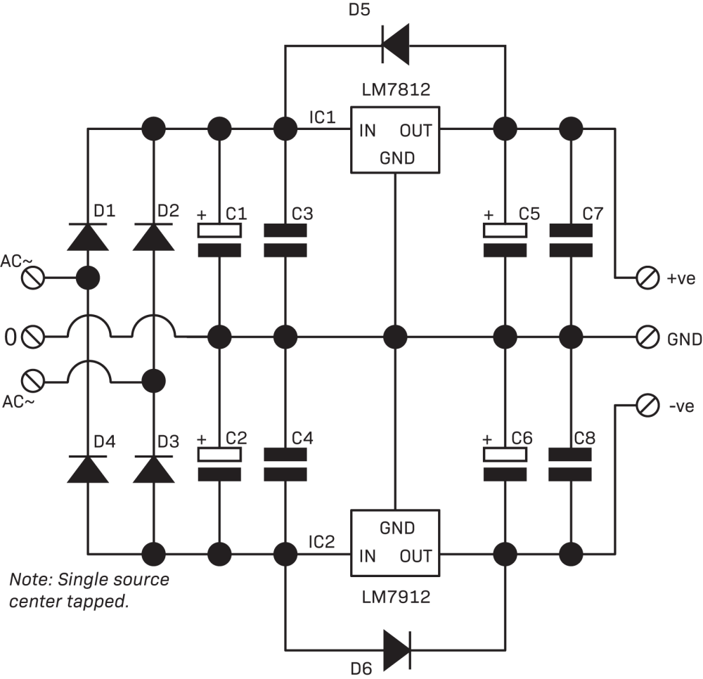 medium resolution of power supplies connected together 2 circuit is useful for op amps and devices requiring 12vdc
