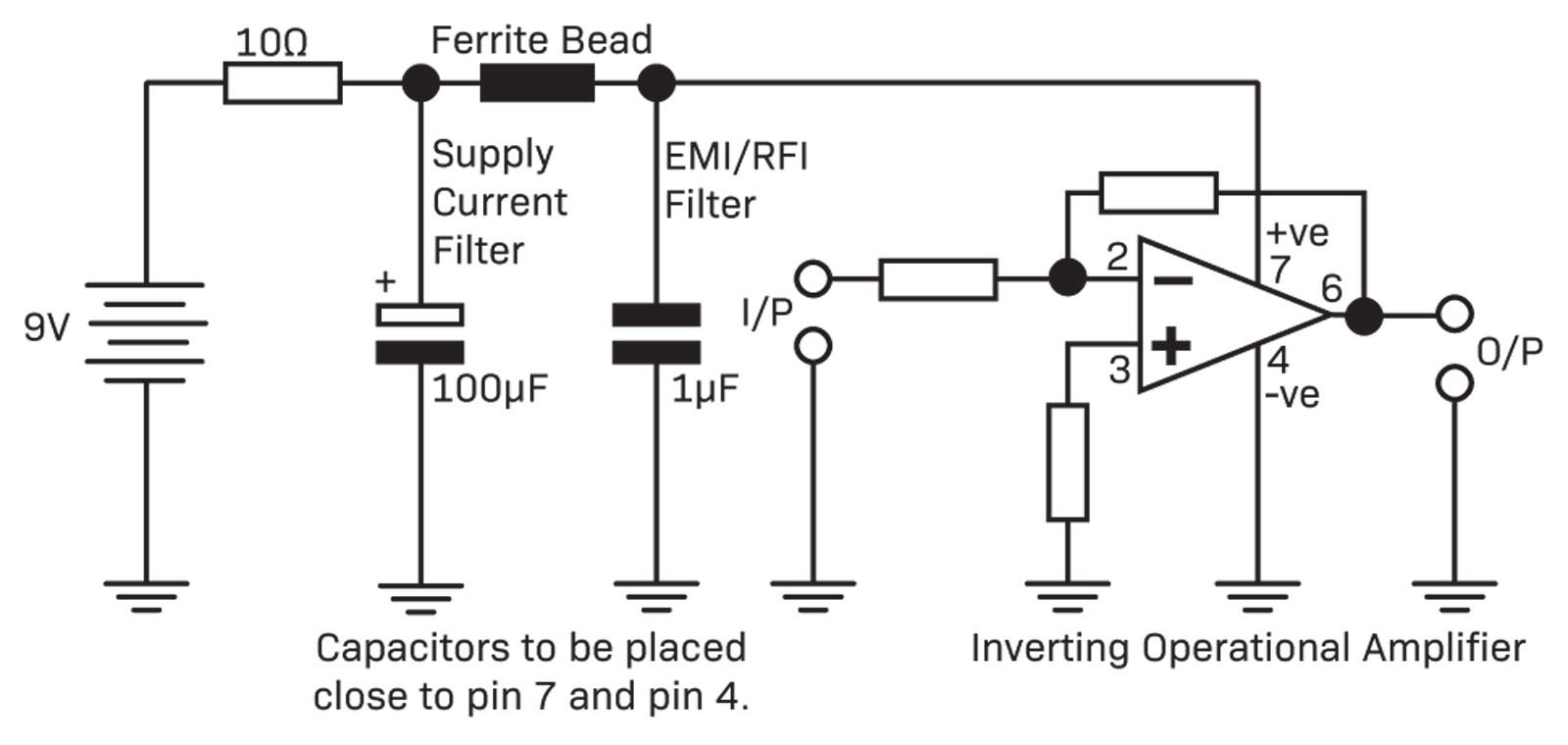 hight resolution of another method is to use ferrite beads or ferrite inductors to reject unwanted noise from your precious circuit sometimes a low value series resistor can