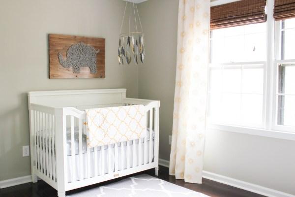 Gender-Neutral Nursery Gray and White