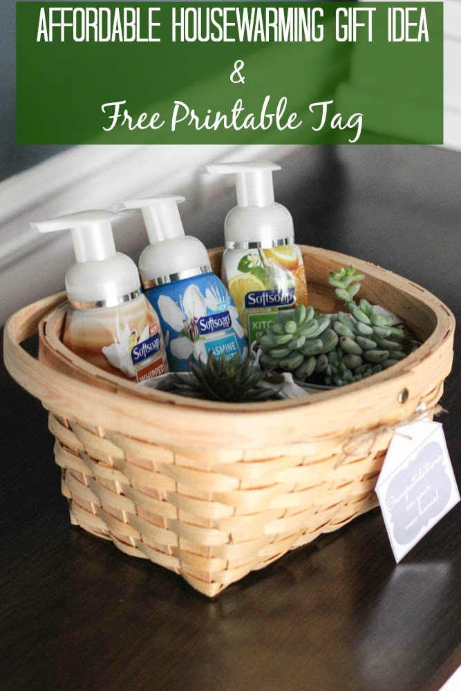 Cheap Housewarming Gift Ideas Affordable Housewarming Gift Idea + Free Printable Tag