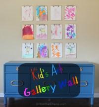 Kid's Art Gallery Wall with Crayola - Erin Spain