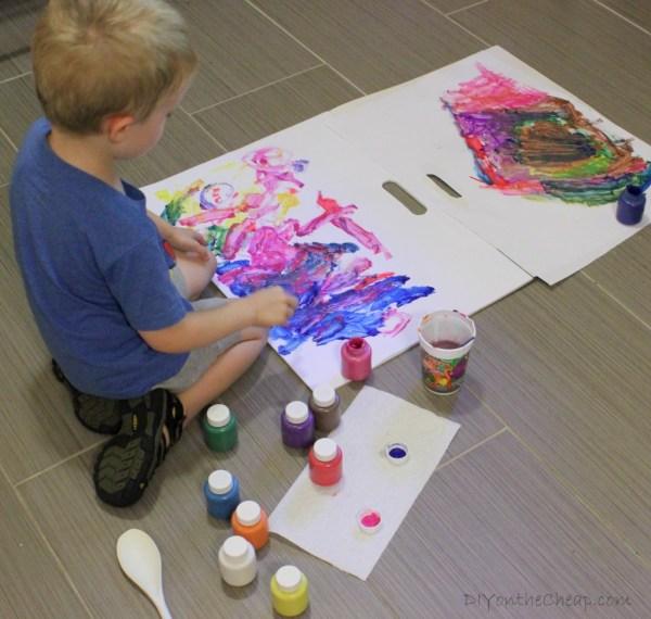 Kids' Art Abstract Painting - Erin Spain