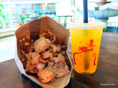 Deep Fried Argentinian Squid and Juice by Jolly Dovey in Kota Kinabalu