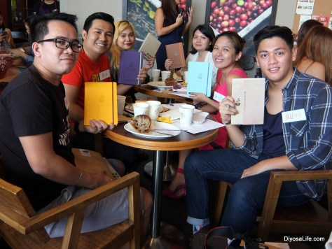 Davao Bloggers with CBTL's The Giving Journals 2016: Robert Villamor, Jexx Hinggo, Clea Banal, April Joyce Garcia, Sunshine Espiritu, Jeffrey Mondia