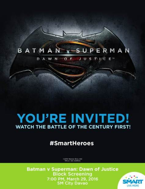 Batman v Superman: Dawn of Justice Davao Block Screening at SM City Davao