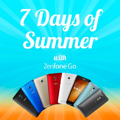 Asus Zenfone Go 7 Days of Summer