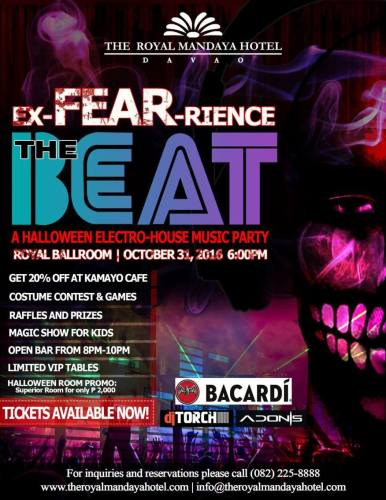 ExFEARience the Beat Bacardi Halloween 2016 Party at the Royal Mandaya Hotel